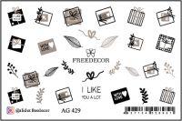 FREEDECOR Аэрография Слайдер дизайн Арт.AG-429