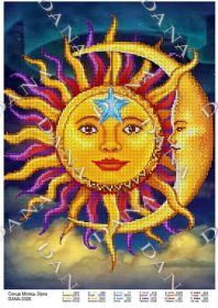 Dana DANA-3326 Солнце, Луна, Звёздочка схема для вышивки бисером купить в магазине Золотая Игла
