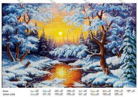 Dana DANA-3358 Зима схема для вышивки бисером купить в магазине Золотая Игла