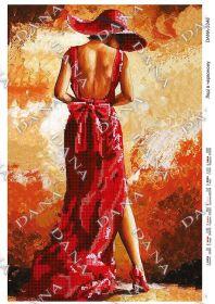 Dana DANA-3346 Леди в Красном схема для вышивки бисером купить в магазине Золотая Игла