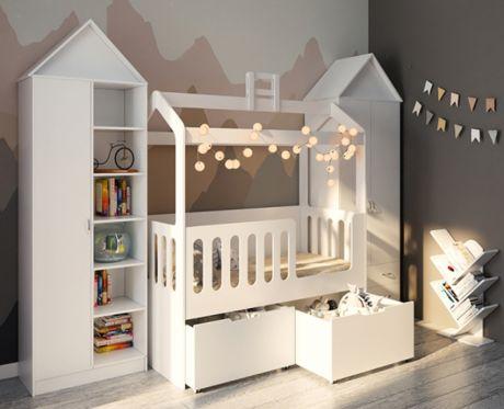 Домик Сказка с высокими ящиками готовая комната