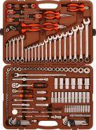 """OMT141S Набор инструмента универсальный 1/4"""", 3/8"""" и 1/2""""DR, 141 предмет"""