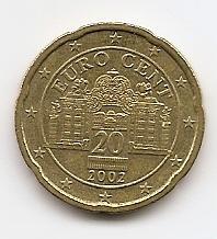 20 евроцентов Австрия 2002 регулярная из обращения