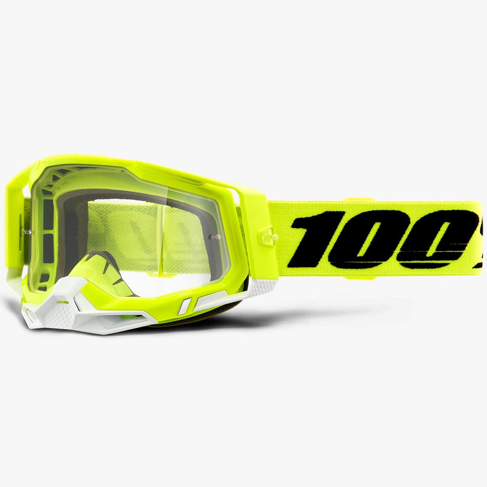 100% Racecraft 2 Fluo Yellow Clear Lens, очки