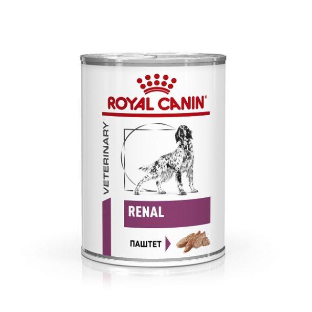 Консервы ROYAL CANIN RENAL диета для собак при почечной недостаточности 410гр