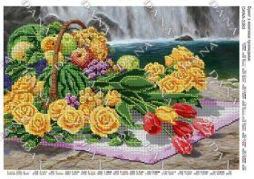 Dana DANA-3383 Букет с Желтыми Розами схема для вышивки бисером купить в магазине Золотая Игла