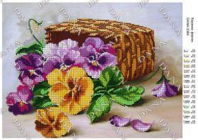 Dana DANA-3384 Корзина Фиалок схема для вышивки бисером купить в магазине Золотая Игла