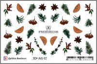 FREEDECOR 3D слайдер дизайн с аэрографией Арт. 3D+AG 02 Новый год