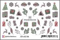 FREEDECOR 3D слайдер дизайн с аэрографией Арт. 3D+AG 06 Новый год