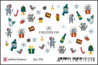 FREEDECOR Аэрография Слайдер дизайн Арт.AG-395 Новый год