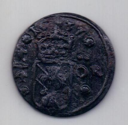 1/4 эре 1637 Швеция XF