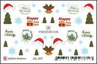 FREEDECOR Аэрография Слайдер дизайн Арт.AG-407 Новый год