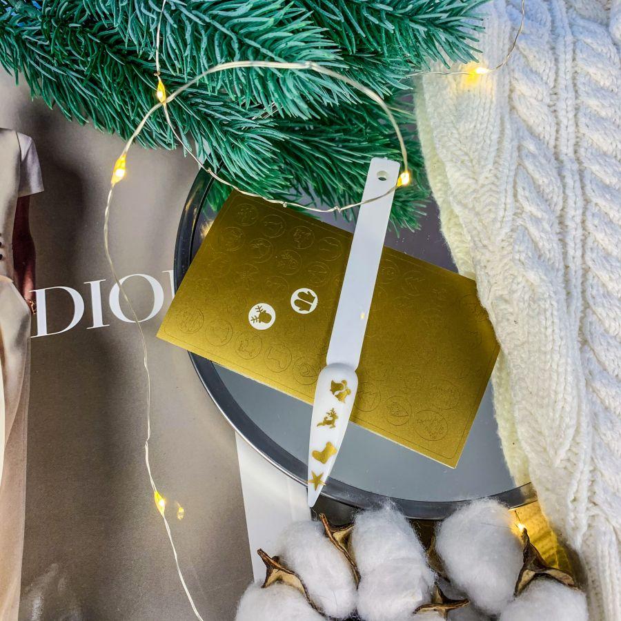 FREEDECOR Трафареты для дип дизайн Tdd-134 Новый год