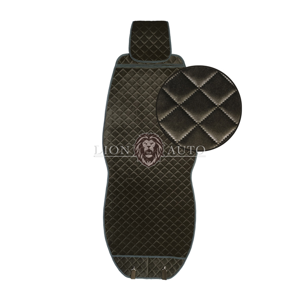 Накидки на сиденья из велюра Premium (коричневая)