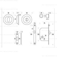 Colombo ENTER LC211 LK комплект для раздвижных дверей с замком. схема