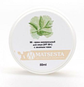 Мацеста - ВВ-крем минеральный для лица (SPF 30+) с зеленым чаем, 50мл