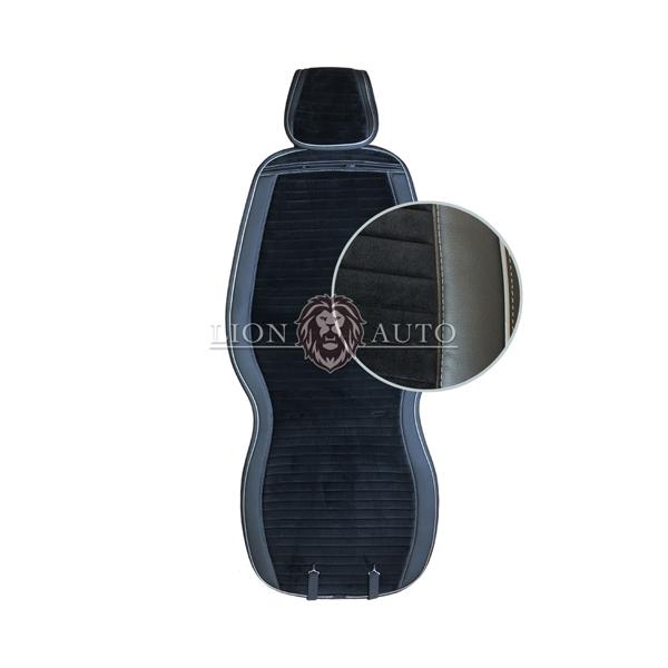 Накидки на сиденья из велюра Premium (серый кант)