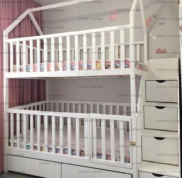 Кровать двухъярусная Домик Малинка Standard №26