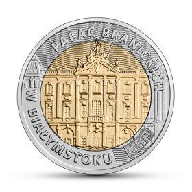 Дворец Браницких 5 злотых Польша 2020