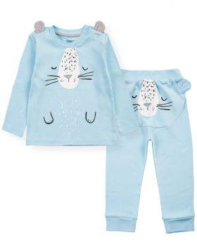 """Костюмчик для новорожденных Bonito kids """"ZOO"""" голубой"""