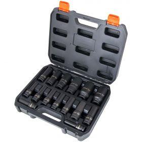 """Набор ударных головок 1/2"""" удлиненных 15 предметов 10-32мм AV Steel AV-721415"""