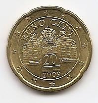 20 евроцентов Австрия 2009 регулярная из обращения
