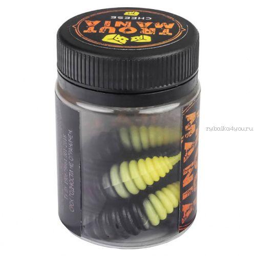 """Мягкие приманки Trixbait Trout Mania Fifa 1,7"""" 42,5 мм / упаковка 8 шт / цвет: 206 Black&Cheese (Cheese)"""