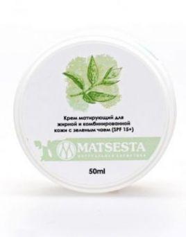 Мацеста - Крем матирующий для жирной и комбинированной кожи с зеленым чаем (SPF 15+), 50мл