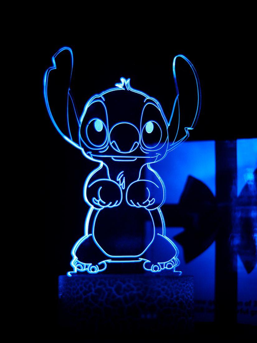 Светодиодный ночник PALMEXX 3D светильник LED RGB 7 цветов (стич)