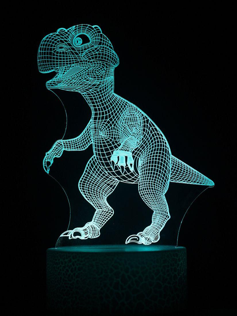 Светодиодный ночник PALMEXX 3D светильник LED RGB 7 цветов (динозавр)