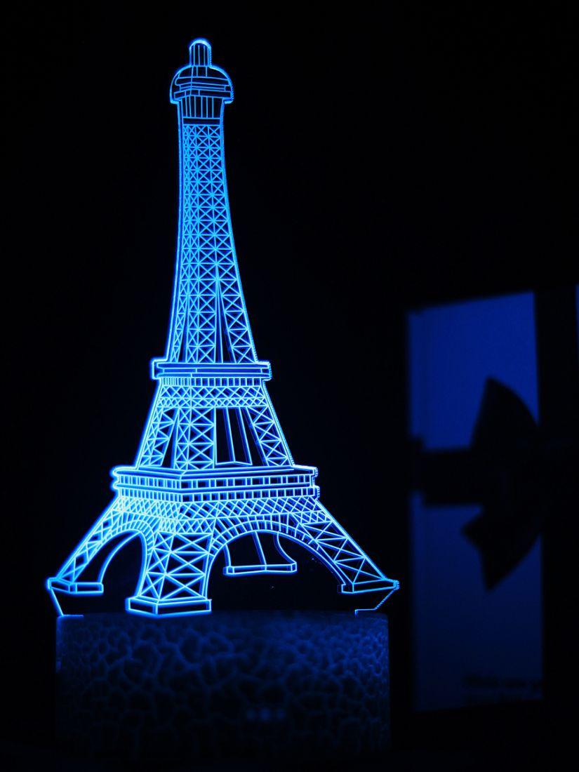 Светодиодный ночник PALMEXX 3D светильник LED RGB 7 цветов (эйфелева башня)