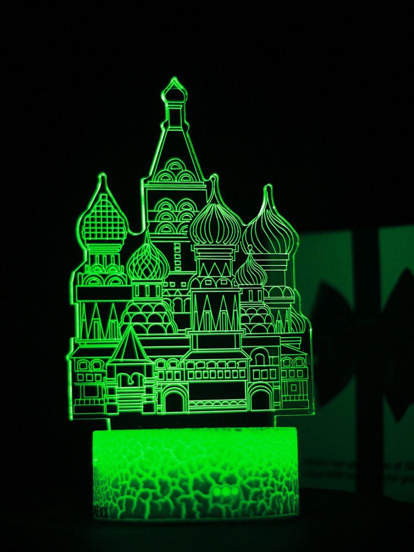 Светодиодный ночник PALMEXX 3D светильник LED RGB 7 цветов (собор)
