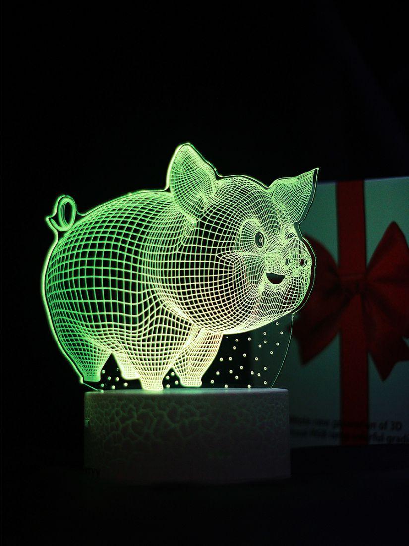 Светодиодный ночник PALMEXX 3D светильник LED RGB 7 цветов (поросёнок)