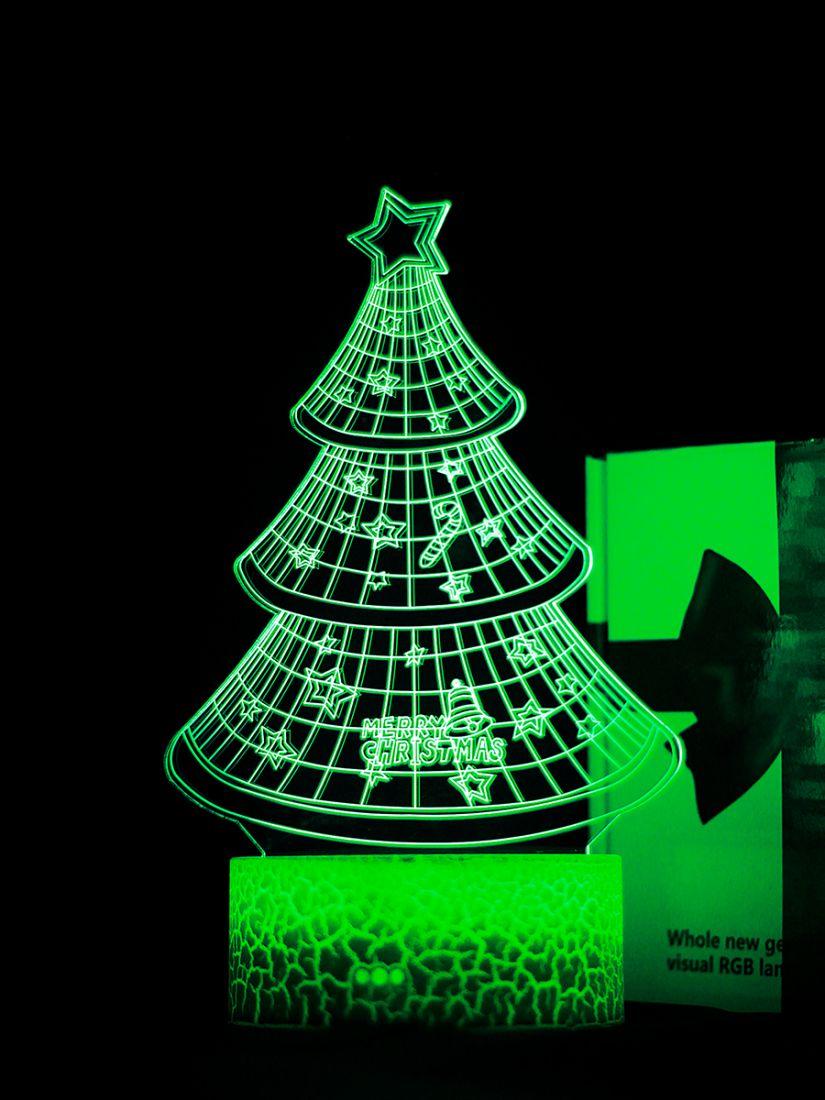 Светодиодный ночник PALMEXX 3D светильник LED RGB 7 цветов (новогодняя ёлка)