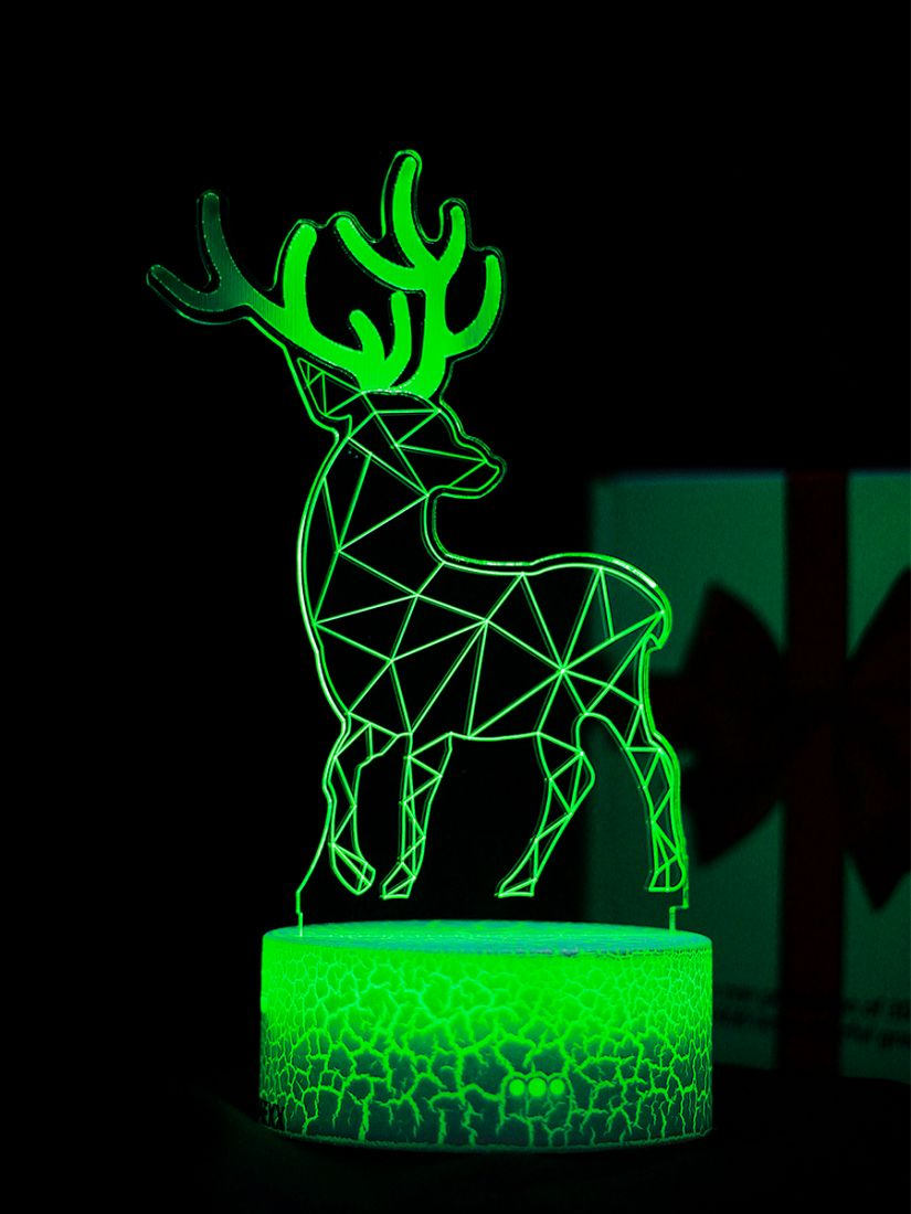 Светодиодный ночник PALMEXX 3D светильник LED RGB 7 цветов (олень)