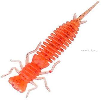 Мягкая приманка Garry Angler Larva 2'' Чеснок 50 мм / 0,9 гр / упаковка 10 шт / цвет: Красный с блестками