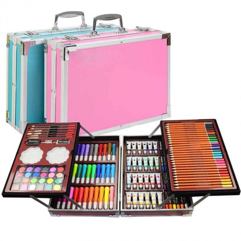 Набор для рисования в металлическом чемоданчике