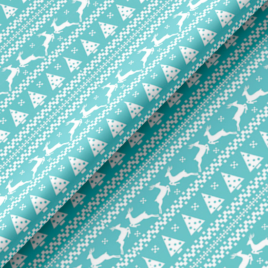Хлопок Перкаль - Голубой сканди 50х37