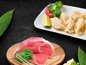 Китайские пельмени со свининой и креветкой 7шт 120г