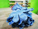 Перчатки серые с ПВХ покрытием