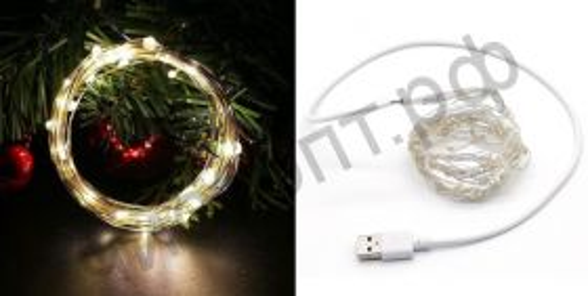 Гирлянда LED OG-LDL08 Теплый SMD0508* 50шт 5м (USB) украшение на каждый день