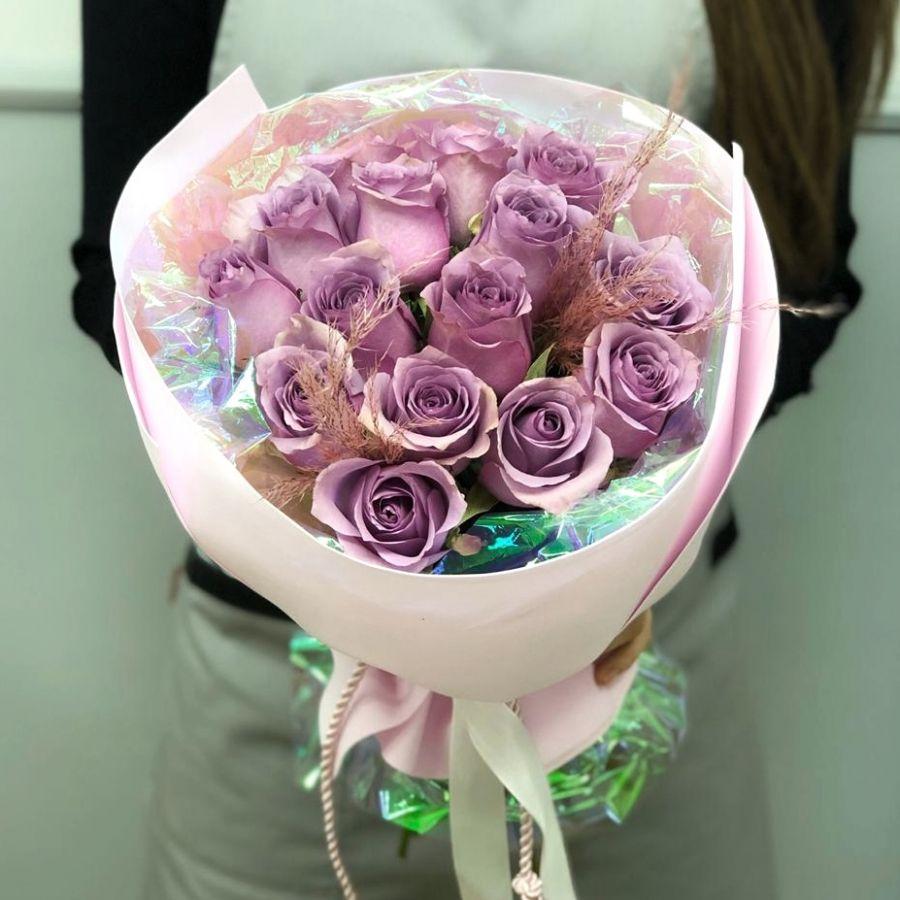 Букет-комплимент из кенийских роз №10