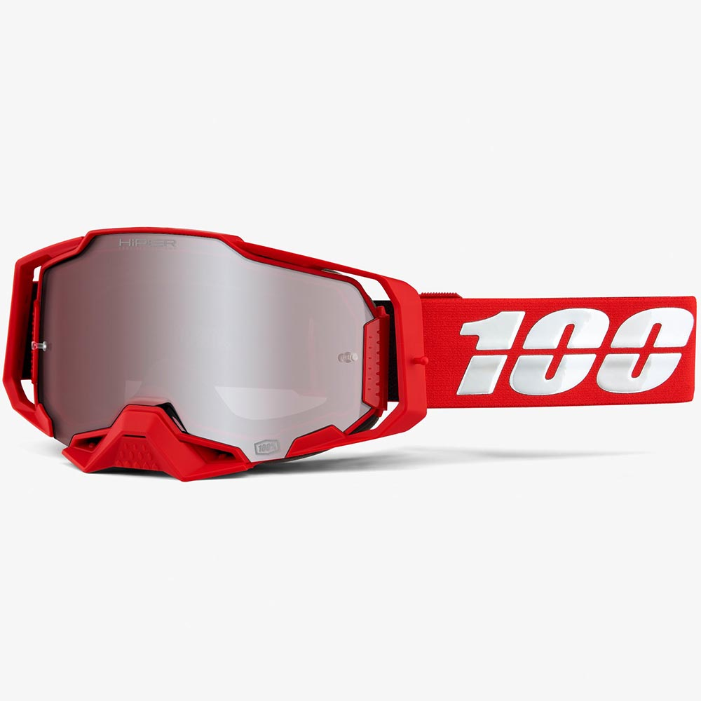 100% Armega War Red Mirror HiPER® Silver Lens, очки