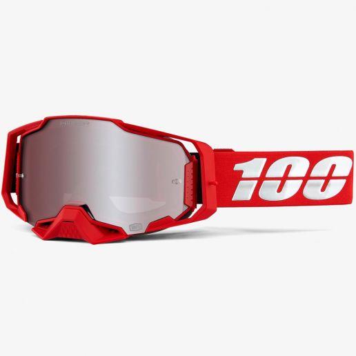 100% Armega War Red Mirror HiPER® Silver Lens, очки