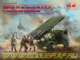БМ-13-16 на шасси W.O.T. 8 c cоветским расчетом