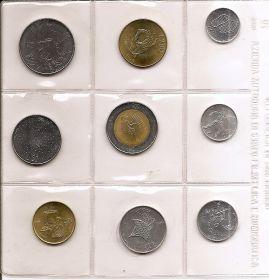 Эволюция Набор монет. Сан-Марино, 1986 год. (9 шт.)