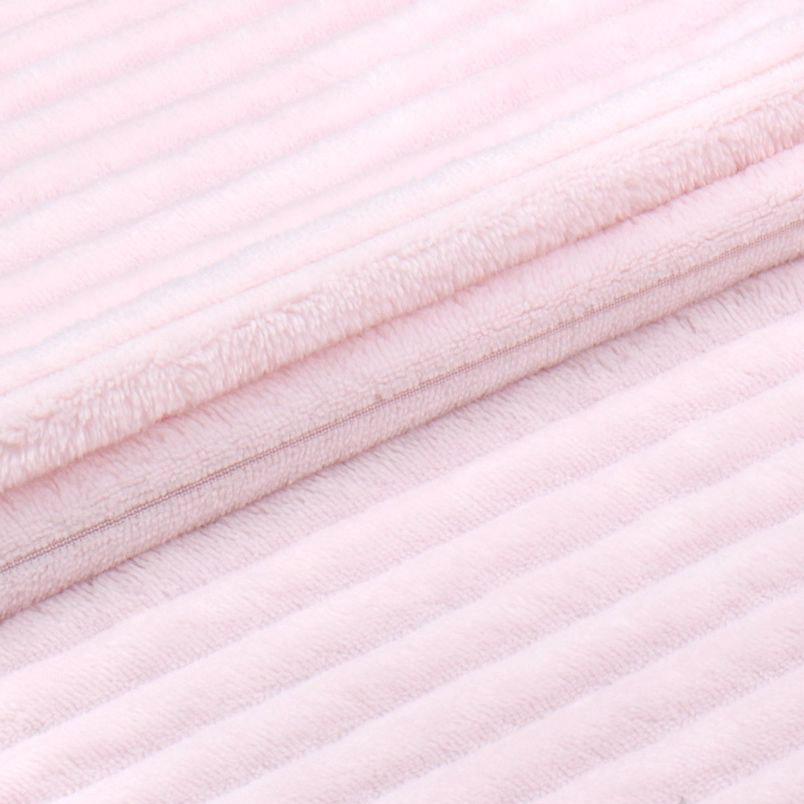 Мех искусственный - Королевский плюш в рубчик розовый  50х37