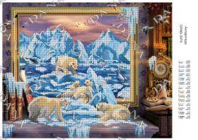 Dana DANA-3474 Антарктида схема для вышивки бисером купить в магазине Золотая Игла