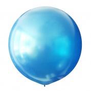 Синий металлик большой шар латексный с гелием