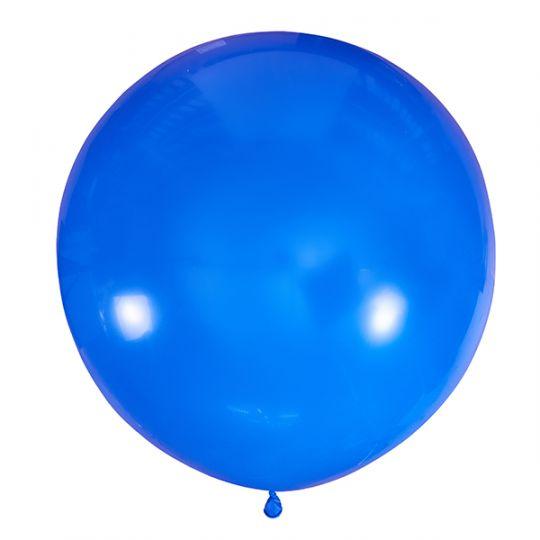 Синий метровый шар латексный с гелием